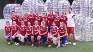 FC Bayern U17 testet Bubble Soccer